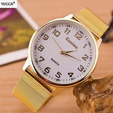 XKC-watches Herrenuhren, Männer-Paare Quarz Swiss-Legierung Diamant Uhren Stahlband Uhr-Mode-