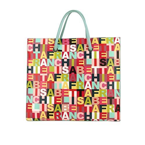Elisabetta Franchi Borsa Shopping Donna Bs25a92e2111 Poliestere Multicolor