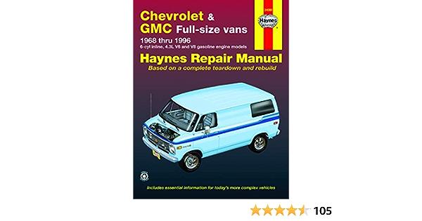 chevrolet & gmc full-size vans 1968 thru 1996 (haynes manuals) - haynes,  john - amazon.de: bücher  amazon