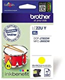 Brother Original Tintenpatrone LC-22UY gelb (für Brother MFC-J985DW und DCP-J785DW)
