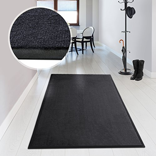 casa pura® Premium Entrance Door Mat - Machine Washable - 6 sizes available | Grey - 136x200cm