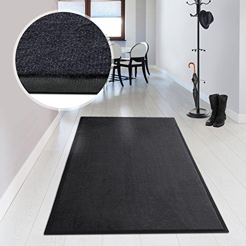 casa pura® Premium Entrance Door Mat - Machine Washable - 6 sizes available   Grey - 136x200cm