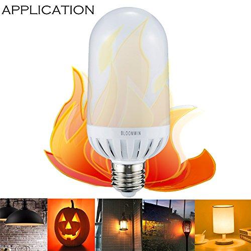 BLOOMWIN LED Bulbo bombilla de fuego llama E27 Blanco cálido 3 Modos AC220V SMD Ø64*135MM lámpara decorativa para la Navidad, Halloween, Festival, Partido