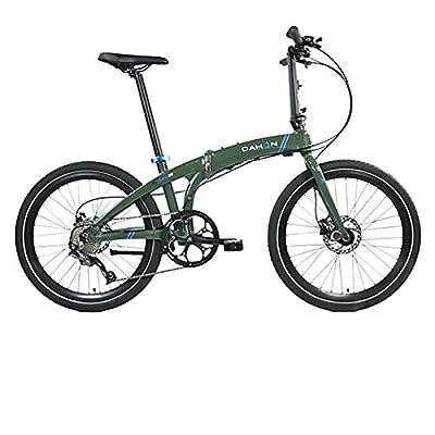 Dahon Faltrad IOS D9 9 Gang Khaki 24 Zoll Grün Klapp Fahrrad Universal Faltrahmen Kettenschaltung, 942232