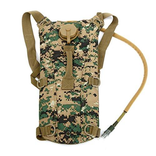 F@UniGear idratazione zaino idratazione Pack tactical Pack Hydra idratazione della vescica con bere tubo zaino con le bolle di acqua 2.5 l ideale per escursionismo, ciclismo jogging, passeggiate, arra jungle number