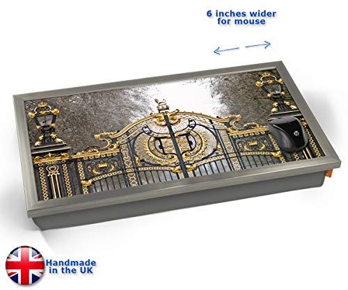 Buckingham Palace London Gate Cushioned Bean Bag Laptop Lap Tray Desk - Built-in EMF Shield (Electro...