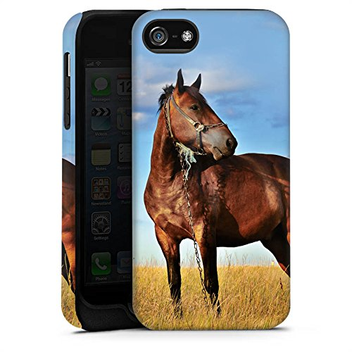 Apple iPhone X Silikon Hülle Case Schutzhülle Pferd Stute Hengst Tough Case matt