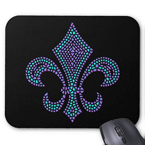 BGLKCS Fleur De Lis Mosaic Bevel Pastel Mouse Pad