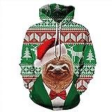 Unisex Paare Sloth Hooded Sweatshirt 3D gedrucktes Sweat Shirt Langarm Hoodie Taschen Top