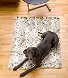 Felldecke aus Webpelz, Hundedecke Schneeleopard 90x110cm