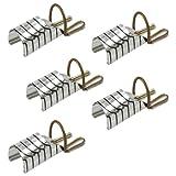 TIPS, 5 cartine per ricostruzione unghie riutilizzabili COLORE ARGENTO