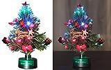 PEARL Weihnachtsbaum fürs Auto: LED-Weihnachtsbaum mit Glasfaser-Farbwechsler (Mini Tannenbaum)