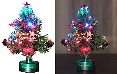 PEARL Weihnachtsbaum für LKW: LED-Weihnachtsbaum mit Glasfaser-Farbwechsler (LED Weihnachtsbaum klein)