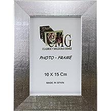 PORTA FOTO P-DM2-71 Marco de Foto, 10 x 15 cm, Plata Brillo