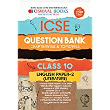 Oswaal ICSE Question Bank Class 10 English Papers 2 Literature Chapterwise & Topicwise (For March 2019 Exam)