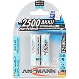 ANSMANN 5035432 maxE 2500mAh AA Pack de 2 batteries de la batterie de puissance pré-chargée à faible auto-décharge