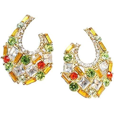 Señorías diseño vintage pendientes multicolor Stud Pendientes Oro Crystal mariposa ala Latotsa 3,5cm de