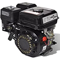 vidaXL 6,5 HP 4,8 kW Motor de gasolina Recambio De Coches Herramienta Vehículo Negro