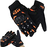 Vheelocityin KTM Gloves KTM Bike Riding Gloves Orange and Black - XL