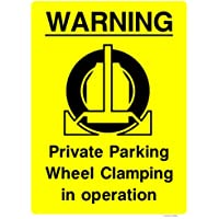 Private Drive No Parking Sign Size:300x400mm; Material:1.5mm Rigid Plastic