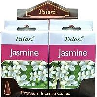 Preisvergleich für Räucherstäbchen Tulasi Räucherkegel–Jasmine–4Boxen von 15-