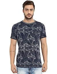 Mufti Men's Printed Slim Fit T-Shirt