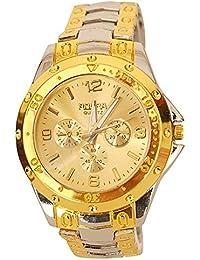Talgo Presents Rosra SilverGold Gold Dial Watch For Men | Fashion Wrist Watch | Men Watch