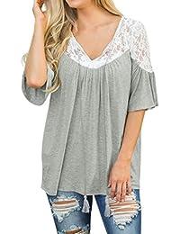 Blusa Mujer elegante, ❤ Amlaiworld Blusas sexys de mujer verano Camisa de manga corta