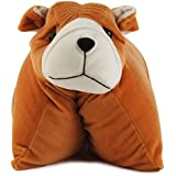Funny Teddy Baby Cushion/ Pillow For Kids With Character (Sleepy Dog)