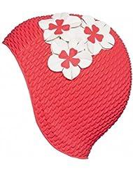 Fashy Damen Luftgefüllte Gummihaube mit Blumen Badehaube