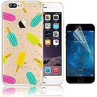 iPhone 7 Plus Case (5.5), Bonice iPhone 7 Plus Custodia, Trasparente Ultra Slim Thin Morbido Crystal Clear Cover + 1x Protezione Schermo Screen – ghiacciolo