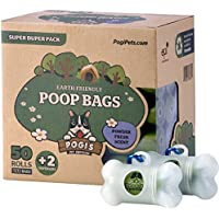 Pogi's Hundekotbeutel - 50 Rollen (750 Tüten) +2 Spender – große, biologisch abbaubare, parfümierte, tropfsichere Hundetüten