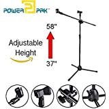 Powerpak MS-1001 3 Leg Boom Microphone Stand (Black)