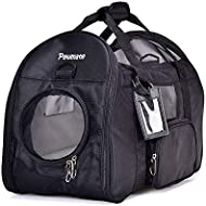 Pet Carrier for Cat and Dog Airline Approved Large Space Lightweight Travel Soft Sided Tote Shoulder Bags with Breathable Mesh Mats - Black