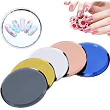 Manicure Palette, 5pcs Mirror Nail Glass False Nail Tips Strumenti per nail art per display
