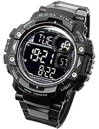 [Lad Weather] militare orologio/cronometro/Pacer funzione orologio/Outdoor/100M resistente all' acqua orologio da uomo