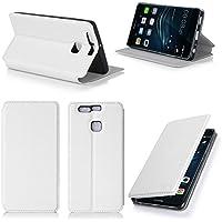 Bianco Custodia Pelle Ultra Slim per Huawei Ascend P9 2016