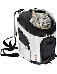 CTAO Mochila para Mascotas para Perros Pequeños Conejos para Gatos Soft-Sided Mesh Pup Pack