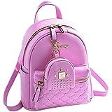 New EVAFashion Girls Bowknot 2-PCS Fashion Backpack Cute Mini Leather Backpack Purse for Women