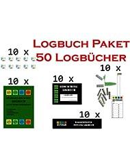 50 Logbücher Paket Geocaching Logbuch, Logstreifen, Dosenlogbuch, Nano Logstreifen, Filmdosen Logbuch, Geo-Versand, Versteck