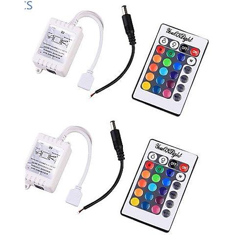 XMQC*2pz. 12V LED RGB LED lampadina Stripe Controller remoto - Bianco