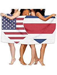 Pillowcase shop COSTA RICA USA Twin Flag Unisex Fashion Towel Personalized Print Beach Towels