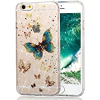 Cover Custodia Case per iPhone 6 Plus / iPhone 6S Plus [NON per 6/6S], Cover Silicone Trasparente Morbide Gomma TPU Cristallo con Disegni Brillantini Glitter Pattern Bling Colorate Elegante Ultra Sottile Shell Bumper Case Cover per iPhone 6 Plus / iPhone  - Trova i prezzi più bassi