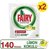 Fairy Hepsi Bir Arada 140Yıkama Bulaşık Makinesi Deterjanı Kapsülü, Limon Kokulu (70 x 2)