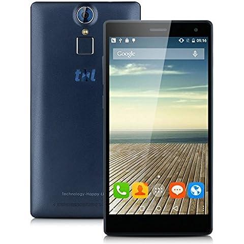 THL T7 Android 5.1 4G MT6753 1.3GHz Octa Core a 64 bit 5.5 HD 1280*720 Pixel RAM 3GB/16GB ROM 13M(B Telecamera) e 5M (F Fotocamera) 4800mAh Doppia SIM GPS WIFI Bluetooth FM Lettore di Impronte Digitali Tocco ID,Blu