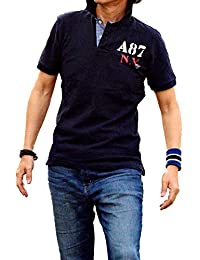 Aeropostale Mens Half Sleeve Polo T-Shirts Navy Blue IMPORTED FROM USA