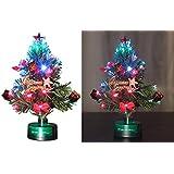 PEARL Weihnachtsbaum fürs Auto: LED-Weihnachtsbaum mit Glasfaser-Farbwechsler (Mini Weihnachtsbaum)