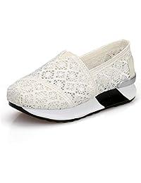 XIE Mujeres/Damas Tacones Cuña Net Yarn Breathable Aire Cojín Zapatos con Zapatos Deportivos Zapatillas