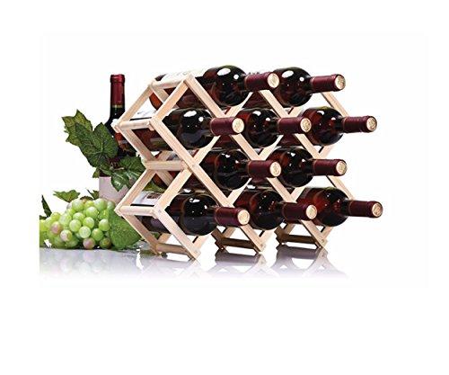 Weinregal Holz natur faltbar Wein Halter 10Flasche Halter Küche Bar Whisky Regal