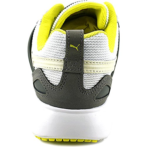 Puma Arial Basic Sports Femmes Toile Baskets White-Fluro Yellow CO